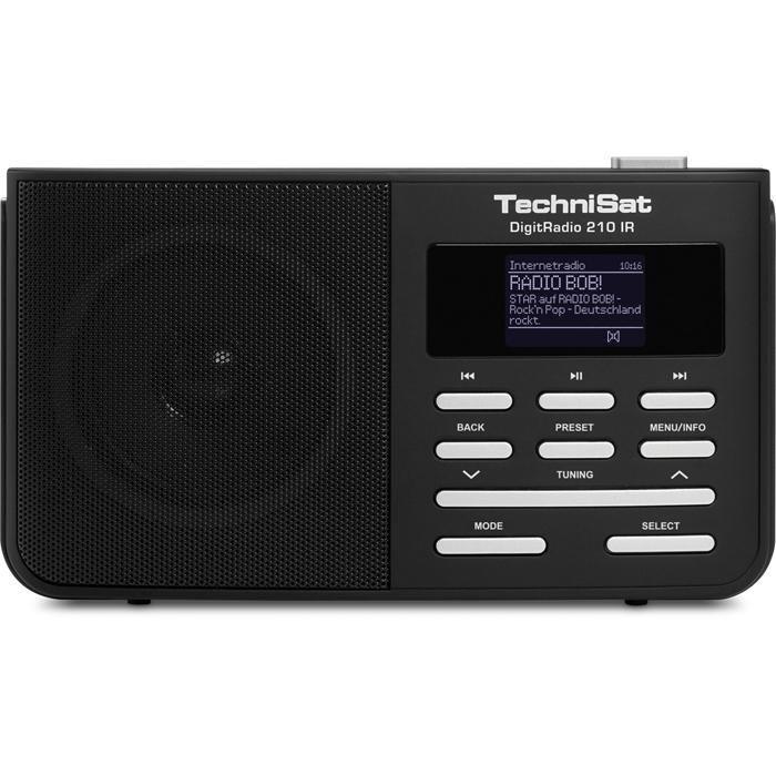 TechniSat Portables DAB+, UKW und Internetradio »DigitRadio 210 IR« in schwarz