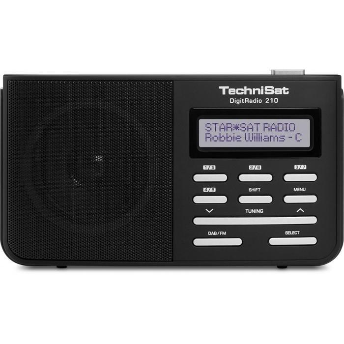 TechniSat DigiPortables DAB, DAB+ und UKW Digitalradio »DigitRadio 210« in silber-schwarz