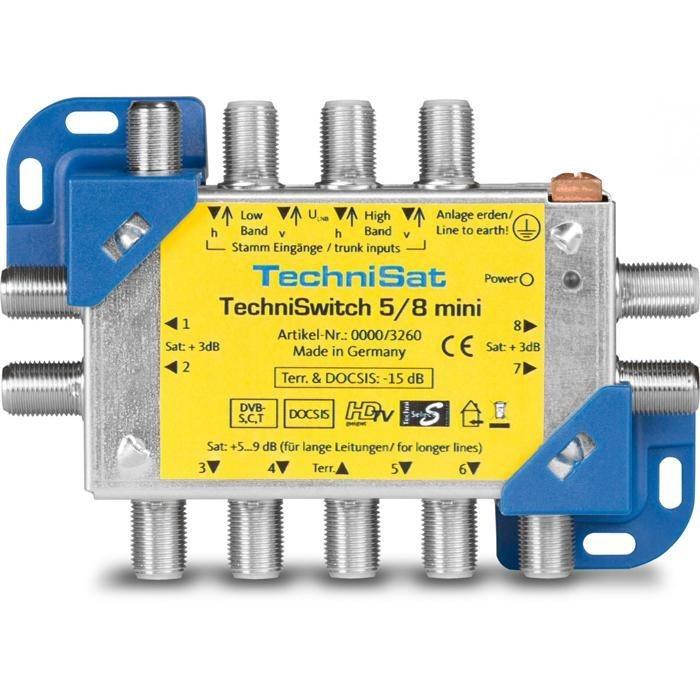 TechniSat Multischalter zur Verteilung von 4 ZF-Ebenen »TechniSwitch 5/8 mini« in blau-gelb