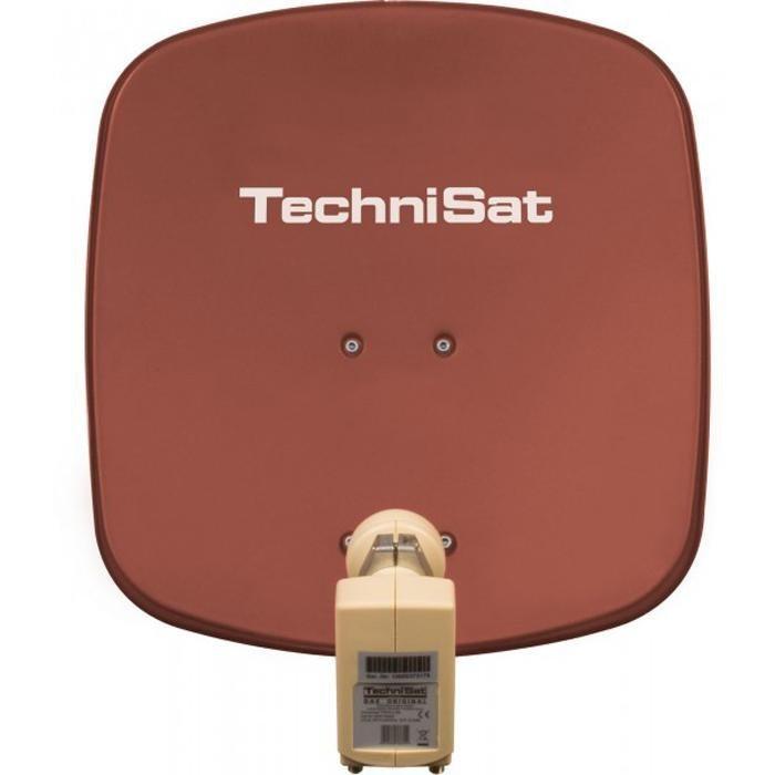 TechniSat Sat-Antenne 45 cm mit Twin-LNB »DigiDish 45, Universal-Twin-LNB« in rot