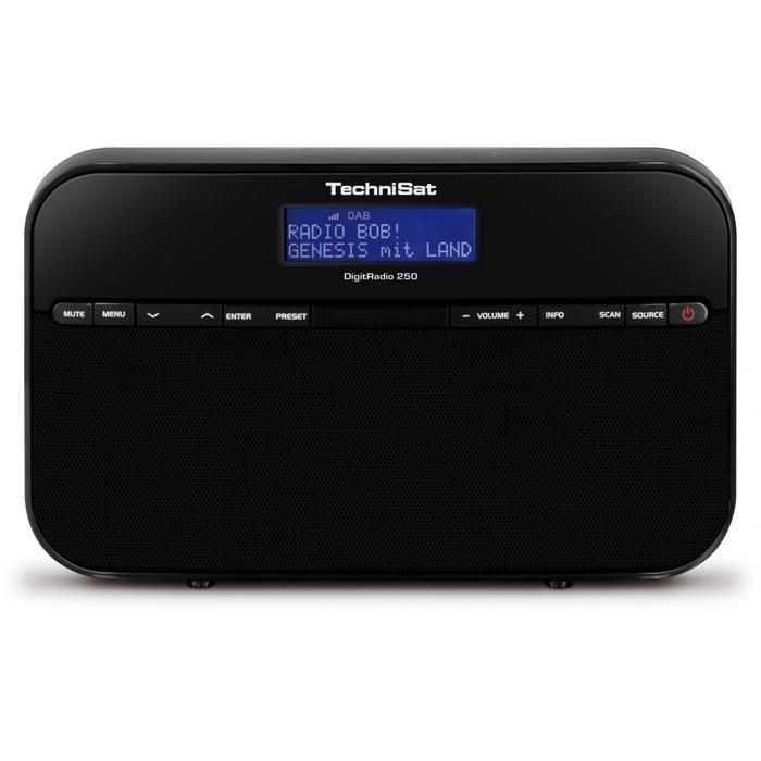 TechniSat Portables Stereo-Radio für DAB+ und UKW-Empfang »DigitRadio 250« in schwarz
