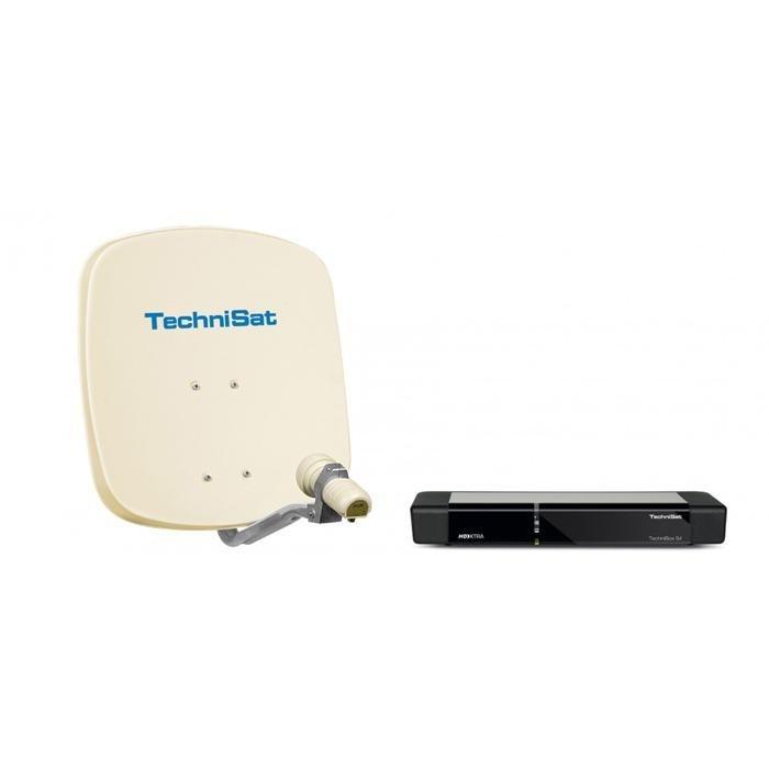 TechniSat Ein-Teilnehmer-Komplettanlage »Ein-Teilnehmer-Set DigiDish 45 + TechniBox S4« in Beige/Schwarz