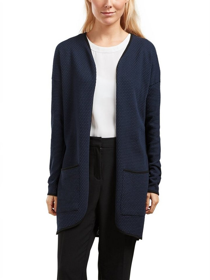 Only Langer Strick-Cardigan in Night Sky