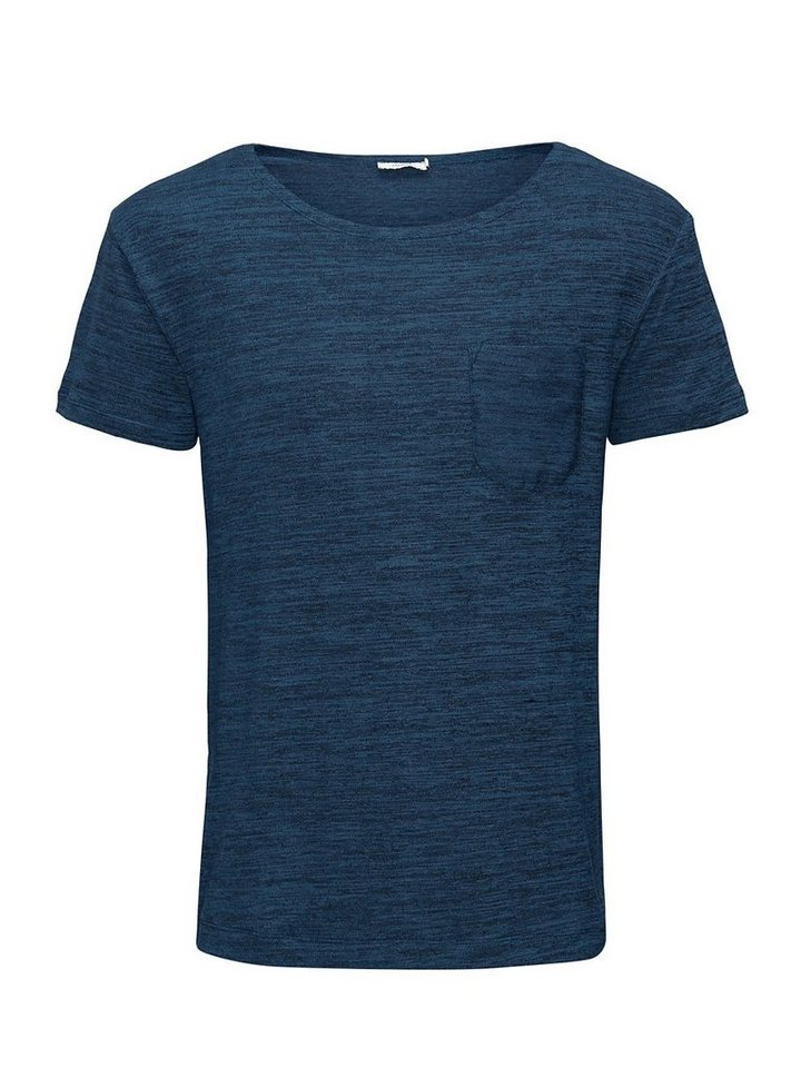 Jack & Jones Stretch-Melange T-Shirt in Majolica Blue