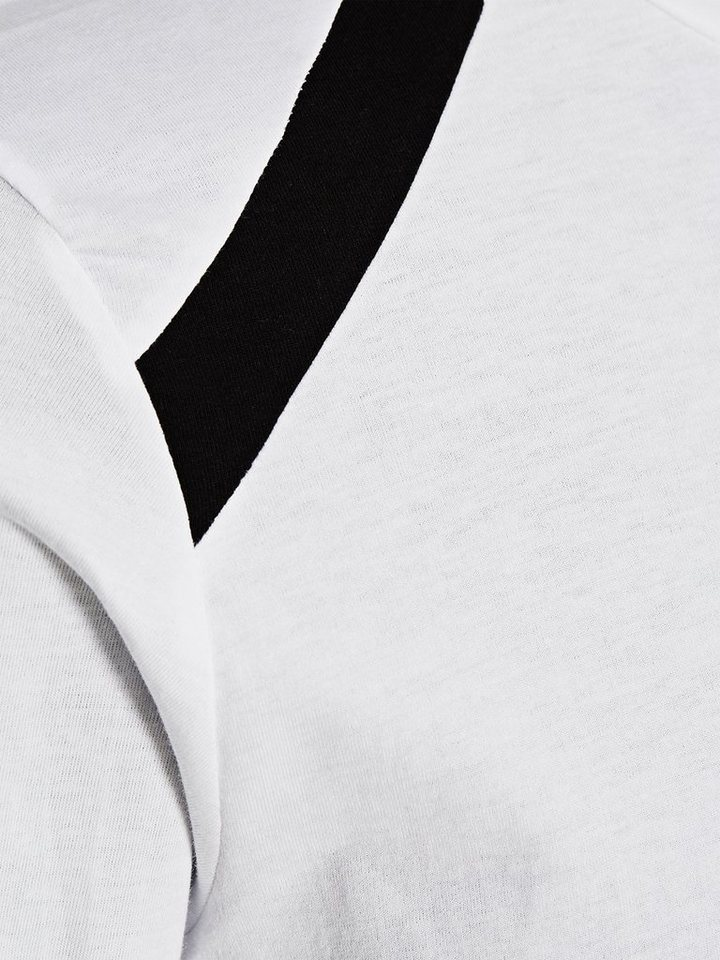 Jack & Jones Lang geschnittenes T-Shirt mit langen Ärmeln in White