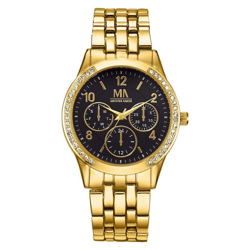 Meister Anker Armbanduhr »Edelstahl« in gelb