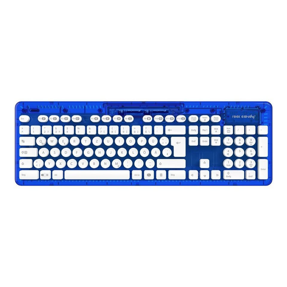 PDP PC - Zubehör »PC Wireless Tastatur Rock Candy - Blau«