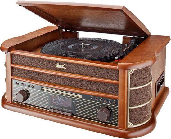 Dual »NR 50« Kompaktanlage (FM-Tuner, Digitalradio (DAB), 10 W, Plattenspieler, Direct-Encoding: Aufnahme von Platte, CD und MC auf USB)