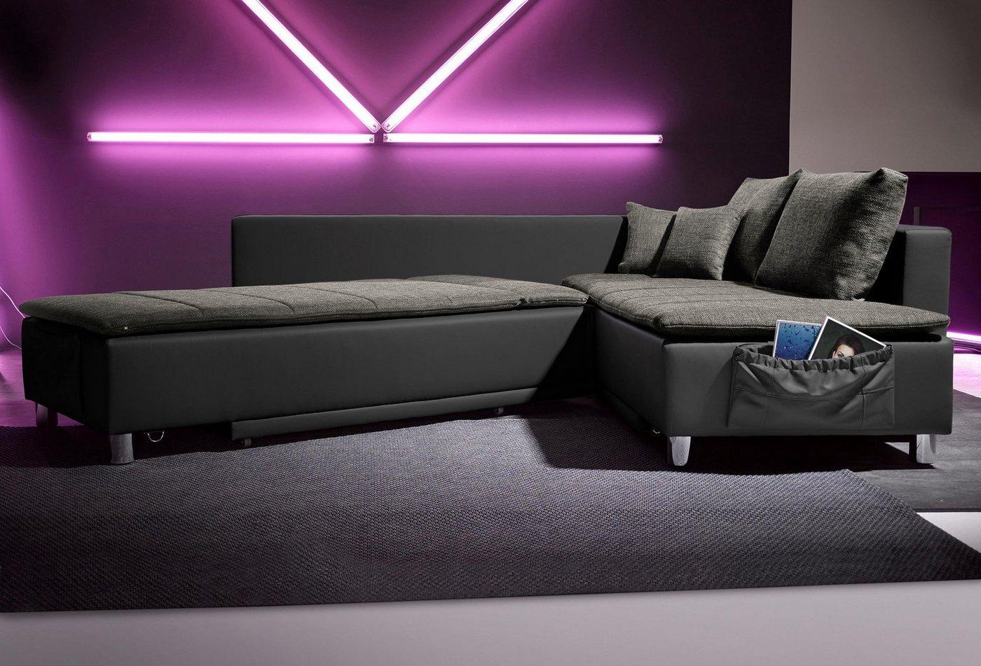 polsterecke mit schlaffunktion preisvergleiche. Black Bedroom Furniture Sets. Home Design Ideas