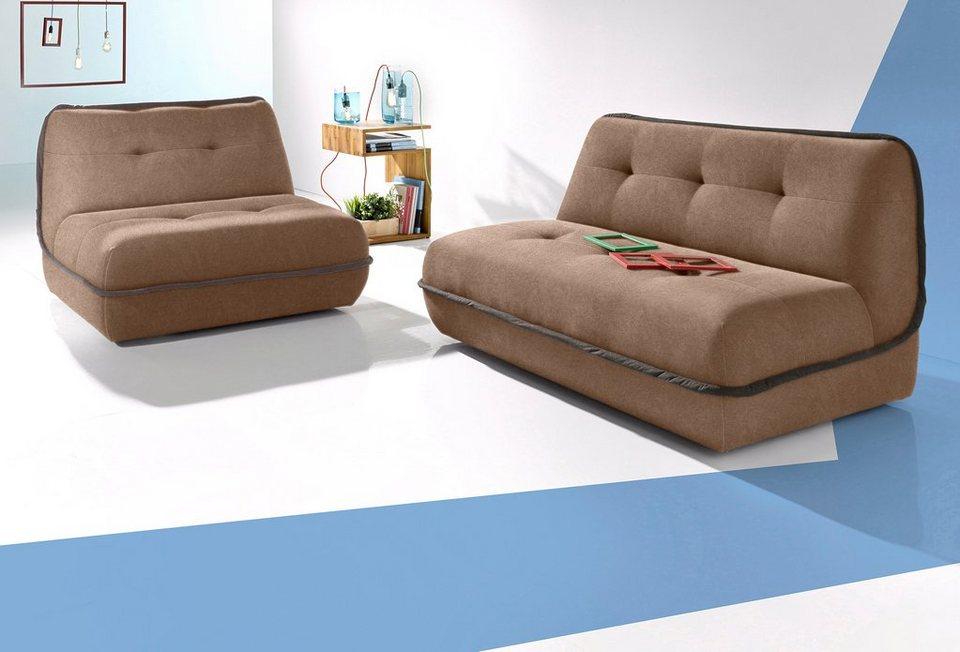 INOSIGN Set 2-Sitzer und 2, 5-Sitzer in braun