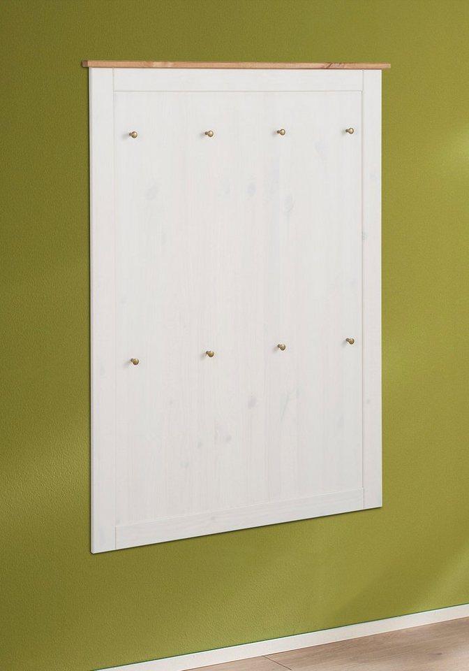 Home affaire Garderobenpaneel »Jever« in weiß-honigfarben