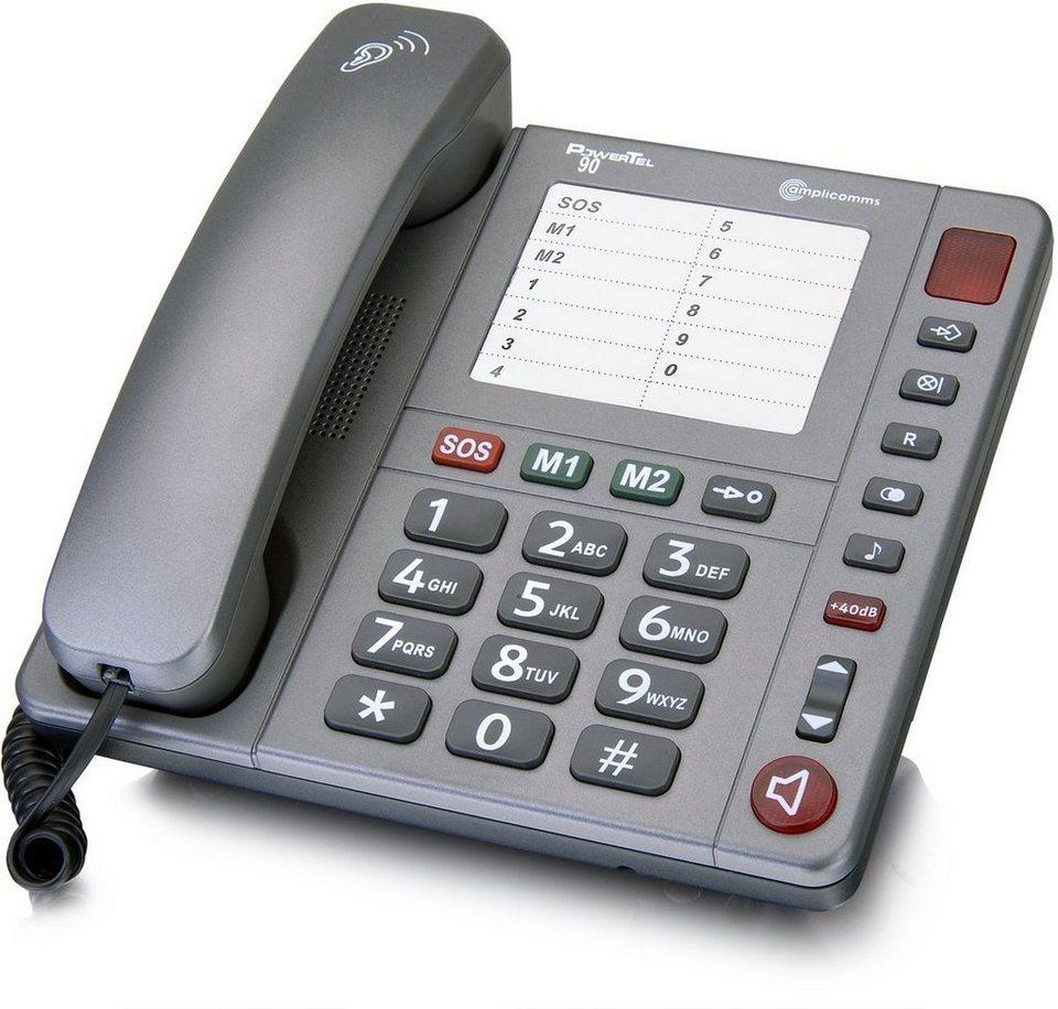 amplicomms Großtastentelefon »PowerTel 90« in Anthrazit