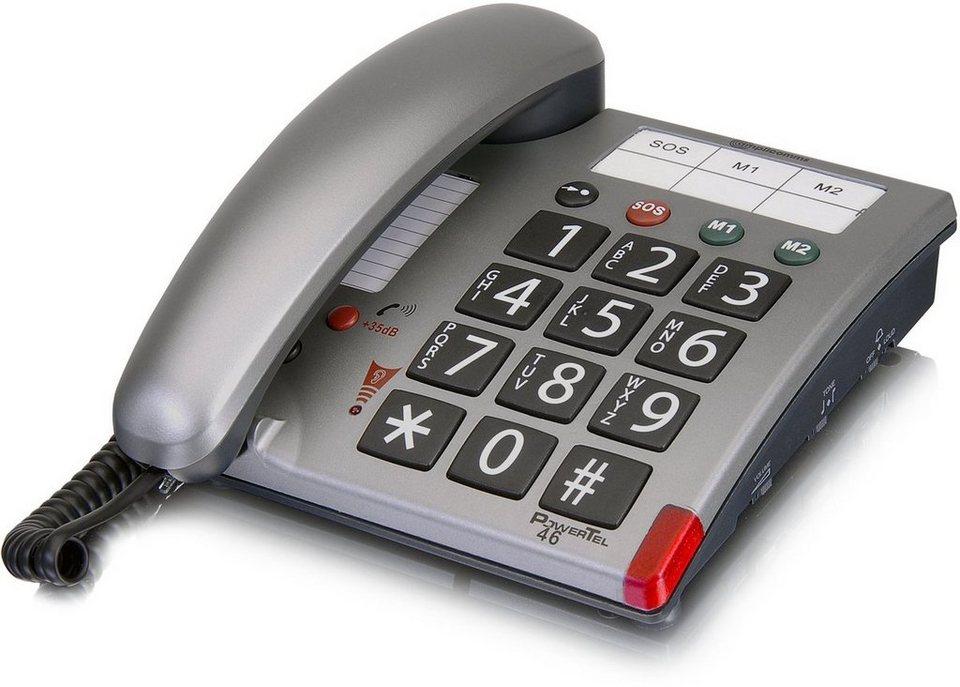 amplicomms Großtastentelefon »PowerTel 46« in Silber