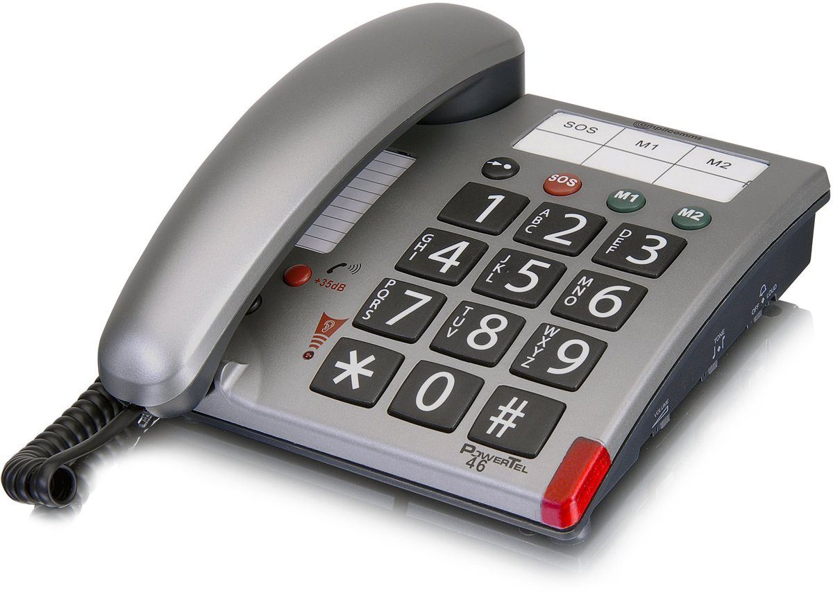 amplicomms Großtastentelefon »PowerTel 46«