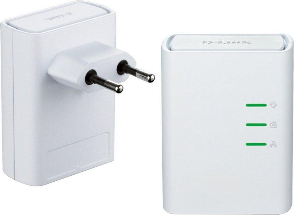 D-Link Powerline »DHP-509AV/E 500Mbit SchuKo Powerline AV Kit« in Weiß