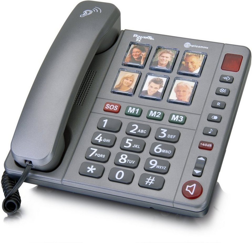 amplicomms Großtastentelefon »PowerTel 92« in Anthrazit