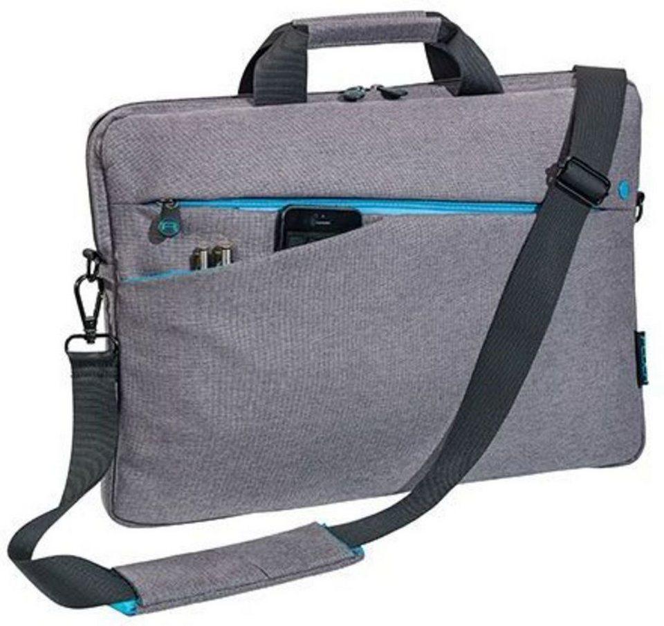 """PEDEA Notebooktasche »Notebooktasche """"Fashion"""" 43,9 cm (17,3"""")« in Grau"""