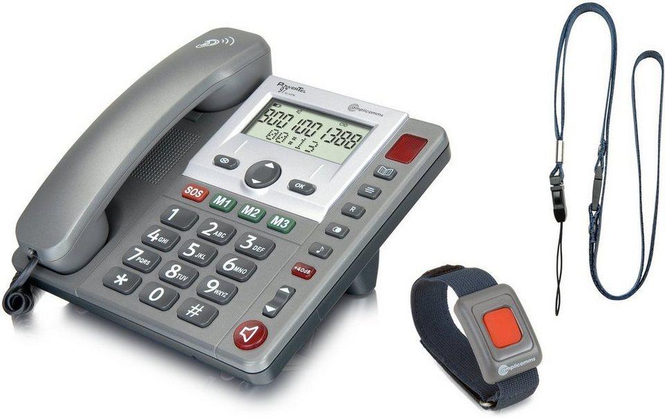 amplicomms Großtastentelefon »PowerTel 97 alarm« in Anthrazit