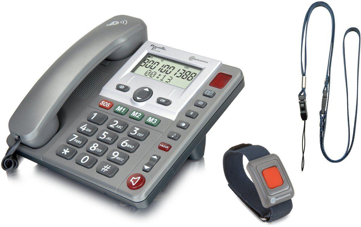 amplicomms Großtastentelefon »PowerTel 97 alarm«
