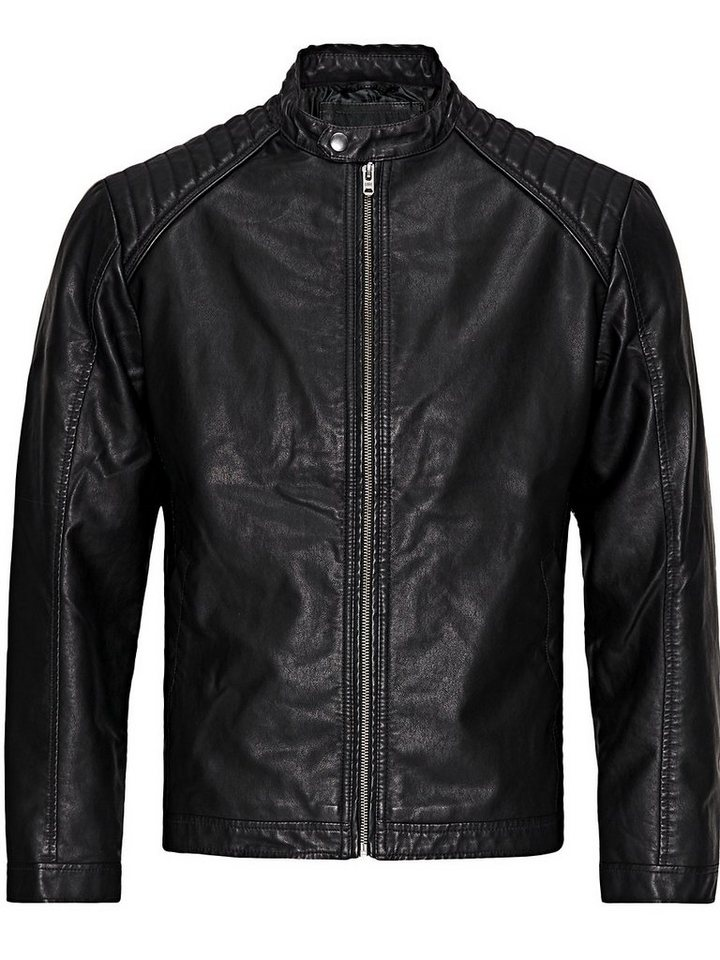 Jack & Jones Biker-Style Leichte Jacke in Black