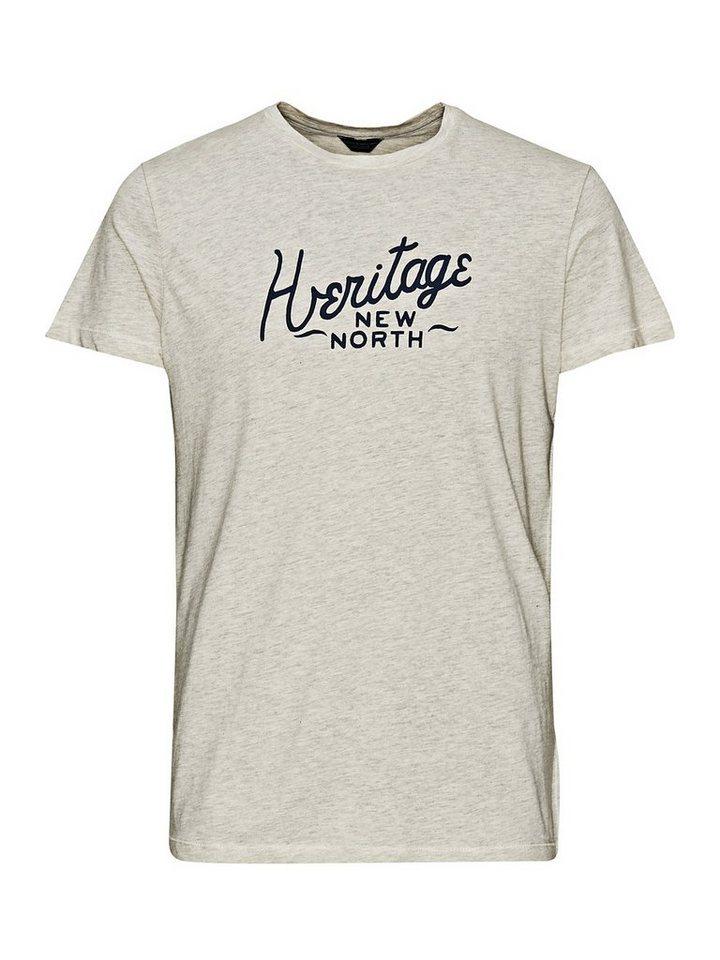 Jack & Jones Brustbedrucktes T-Shirt in Whisper White