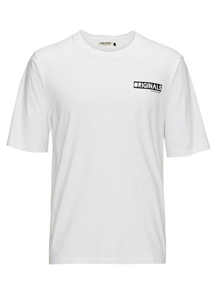 Jack & Jones Hinten bedrucktes T-Shirt in White