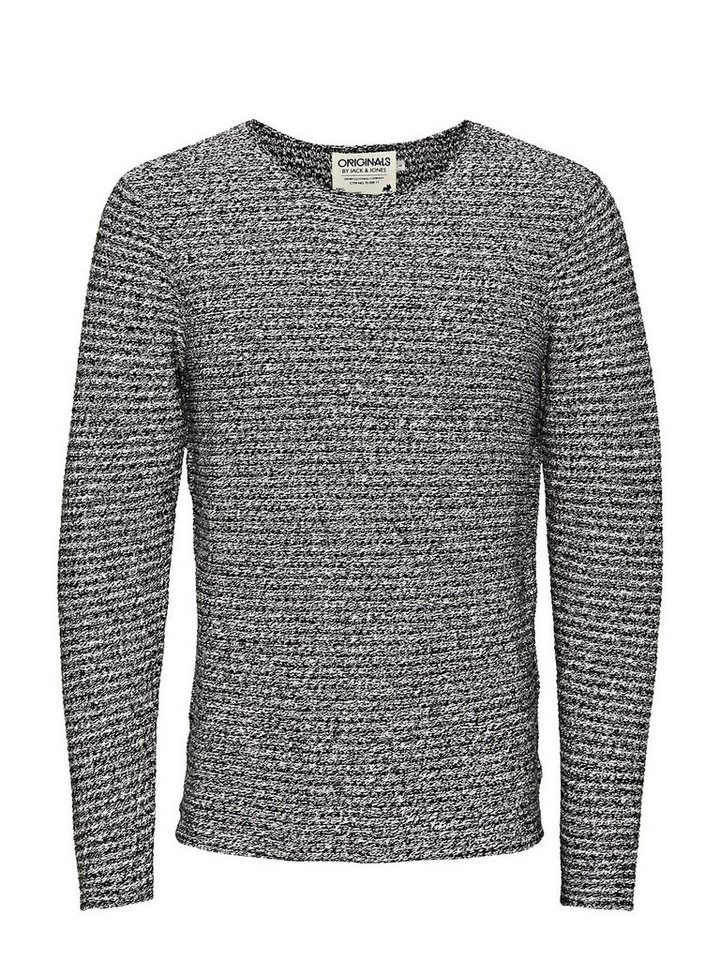Jack & Jones Strukturierter Crew-Neck- Pullover in Black