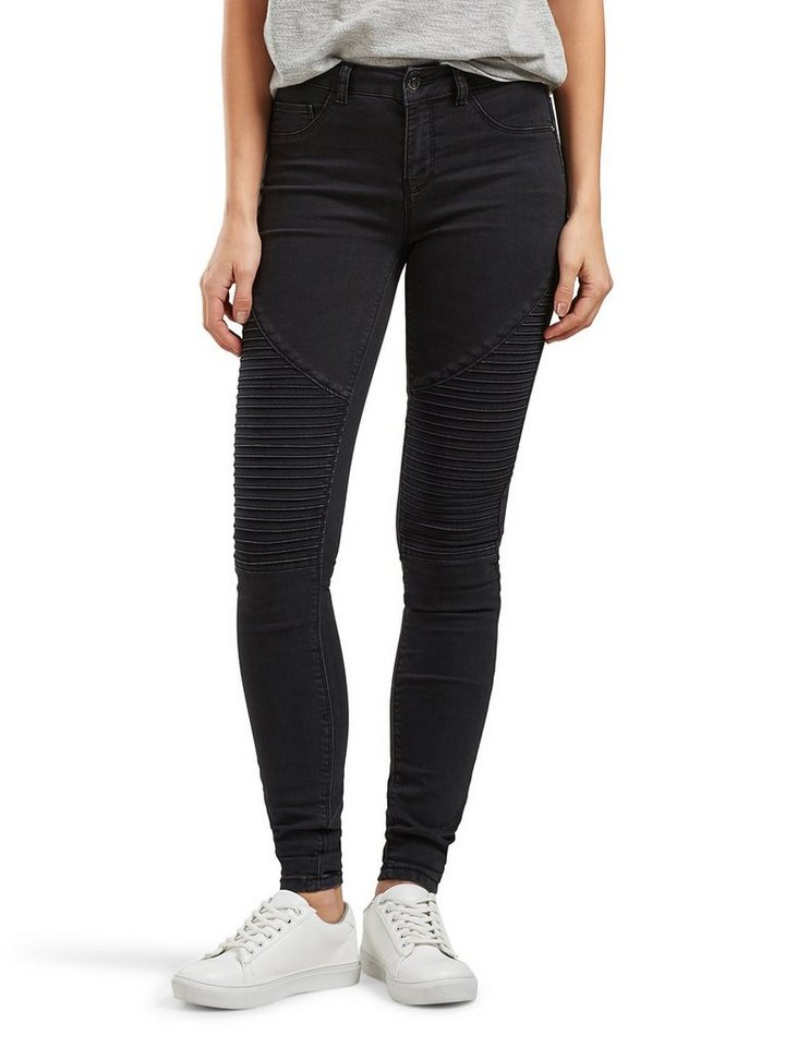 Only Coral reg Biker- Skinny Fit Jeans in Black