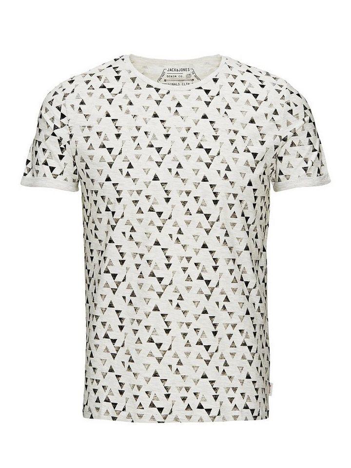 Jack & Jones Komplett bedrucktes T-Shirt in Cloud Dancer