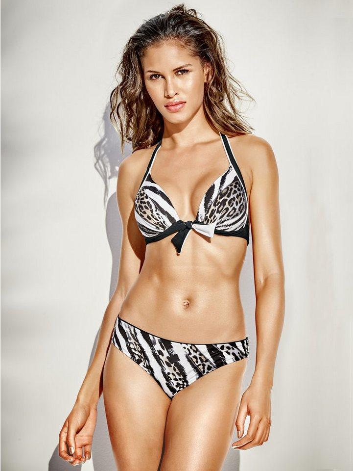 Softcup-Bikini in schwarz/weiß