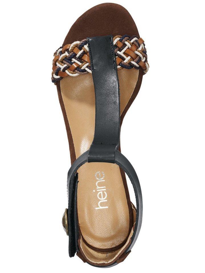 Sandalette in schwarz/braun