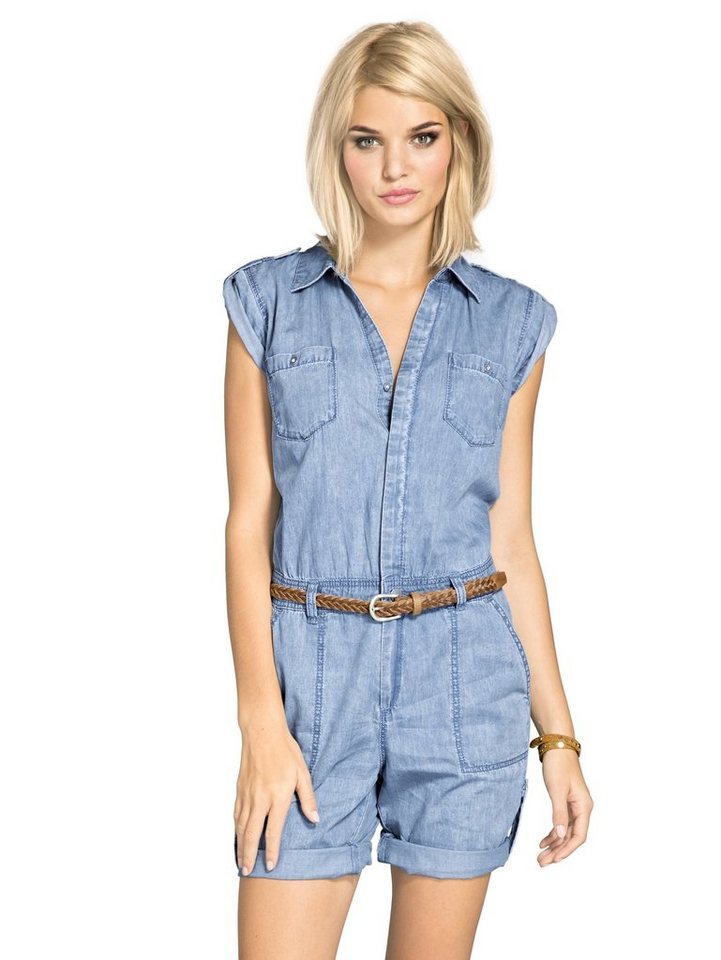 Overall in bleached