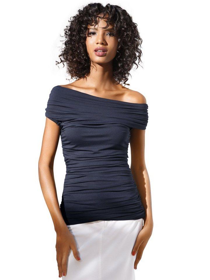 Bodyform-Carmenshirt in marine