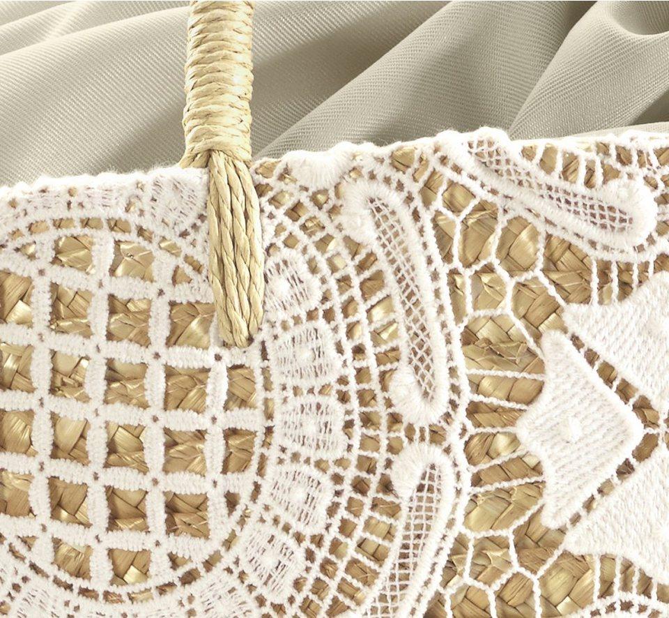 Tasche in natur/weiß