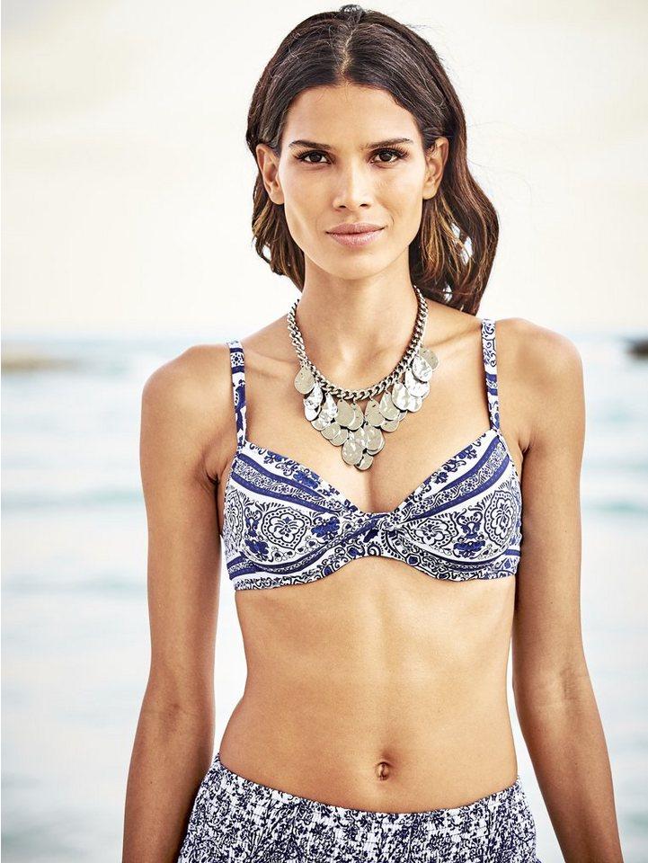 Bügel-Bikini in weiß/blau