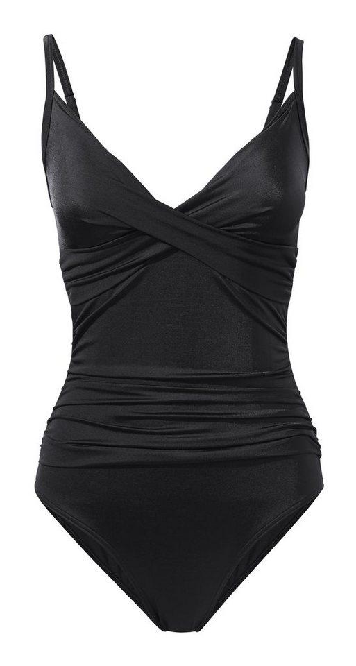 Bauchweg-Anzug in schwarz