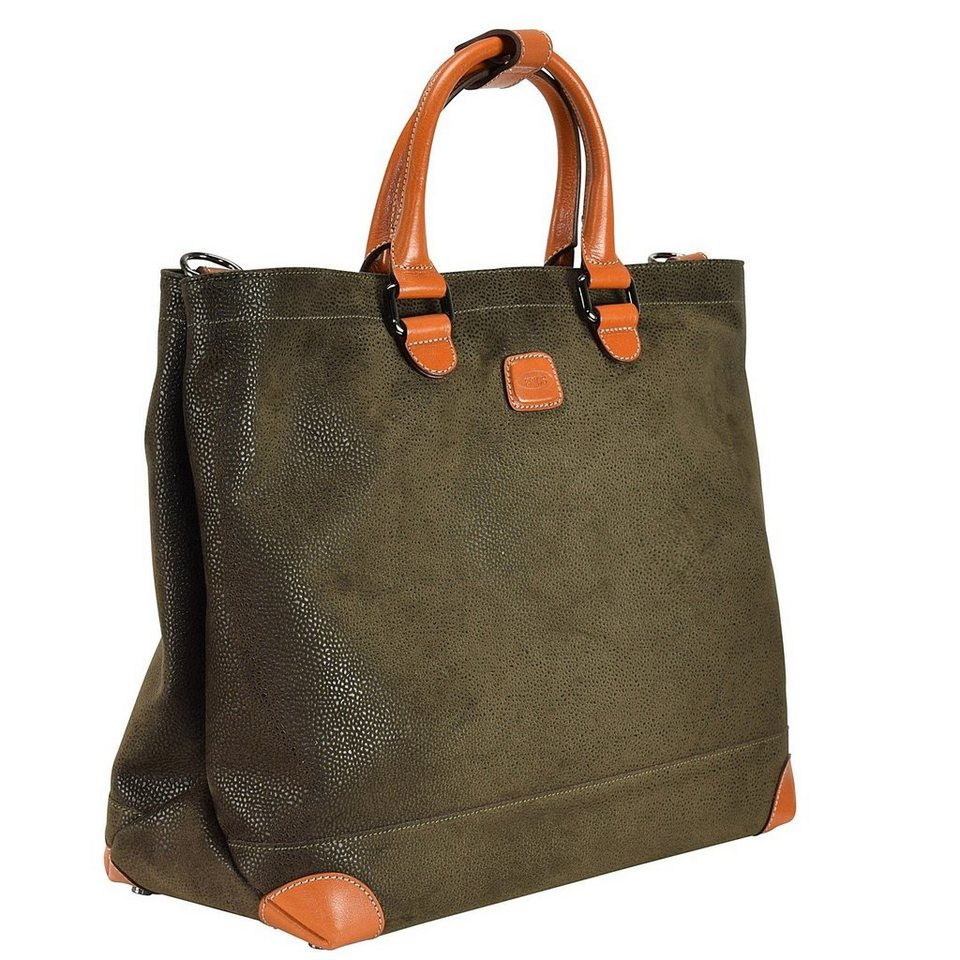 Bric's Life Shopper Tasche 37 cm Laptopfach in olive