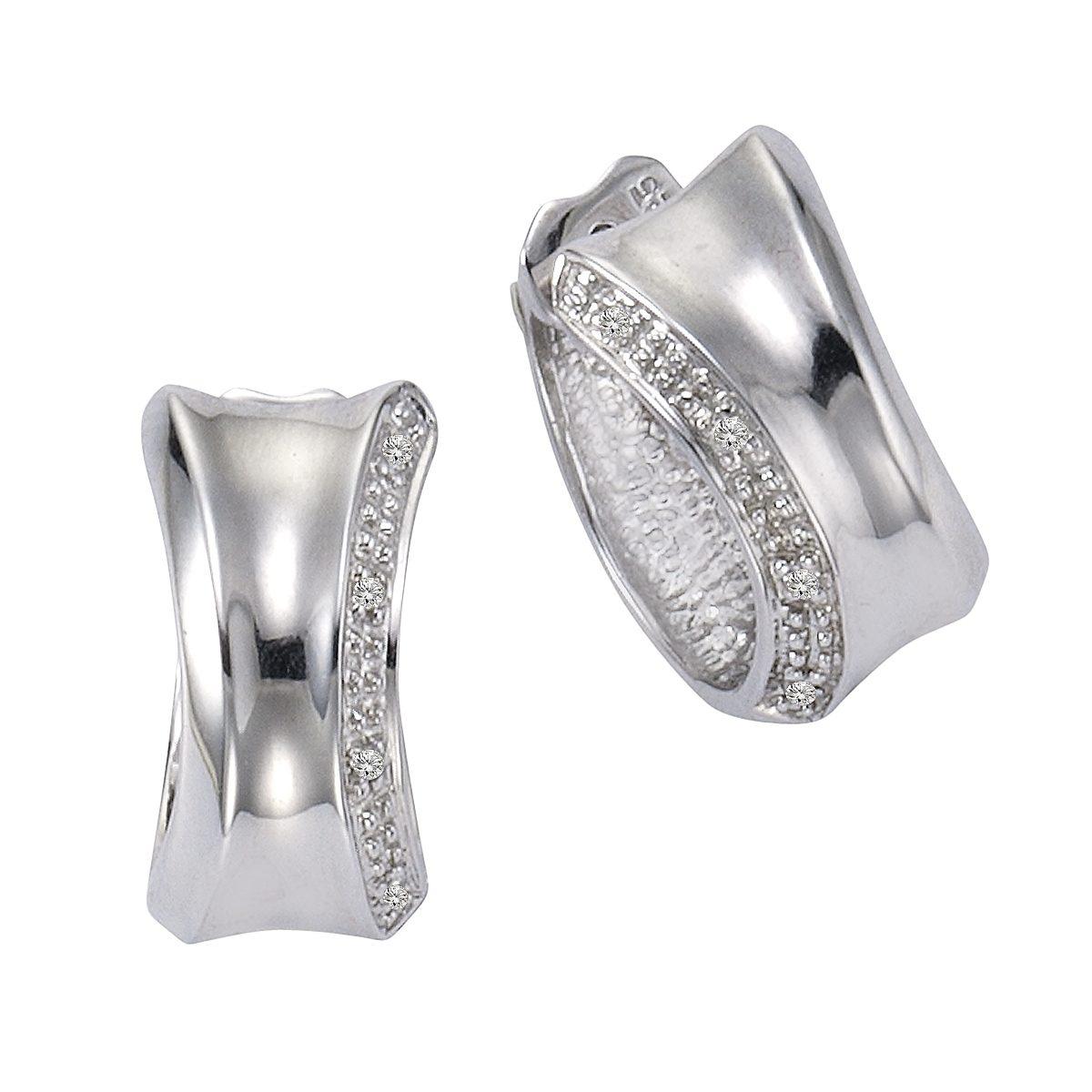 CELESTA Creolen »925/- Silber 8xDiamant«