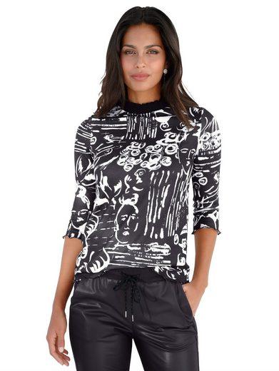 Amy Vermont Print-Shirt mit Scribble-Druck