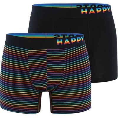 HAPPY SHORTS Retro Pants »2-Pack Trunks Rainbow Stripes«