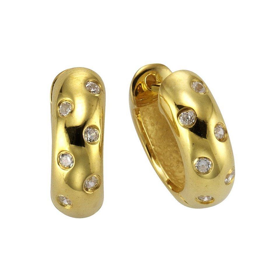 CELESTA Creolen »925/- Sterling Silber« in gelb
