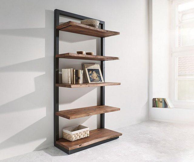 Küchenregale - DELIFE Regal Live Edge Akazie 92 cm mit Metall 5 Böden Standregal  - Onlineshop OTTO