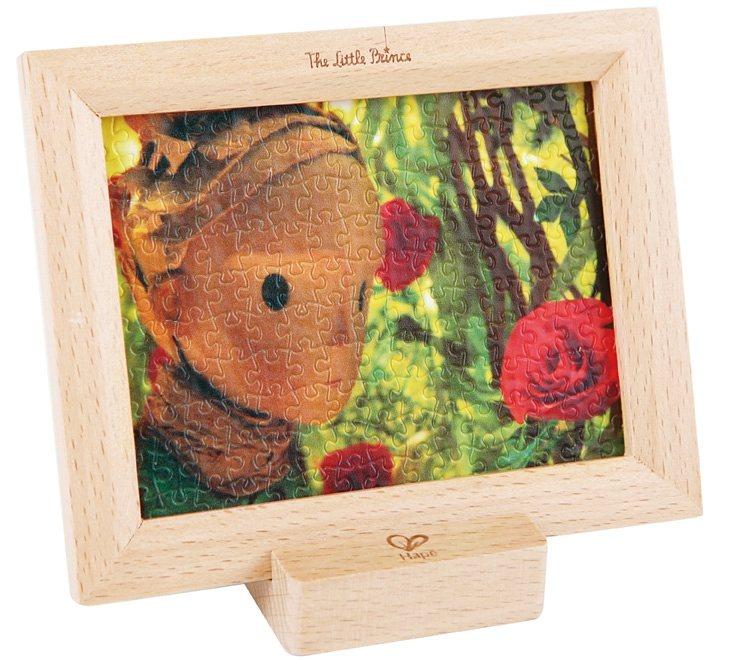 Hape Puzzle mit Holzrahmen und Halter, 150 Teile, »Der kleine Prinz - Rosen«