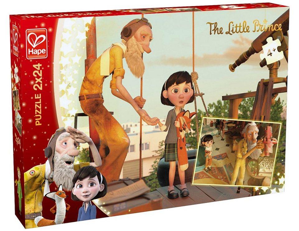 Hape Puzzle, 2x24 Teile, »Der kleine Prinz - Entdeckung«