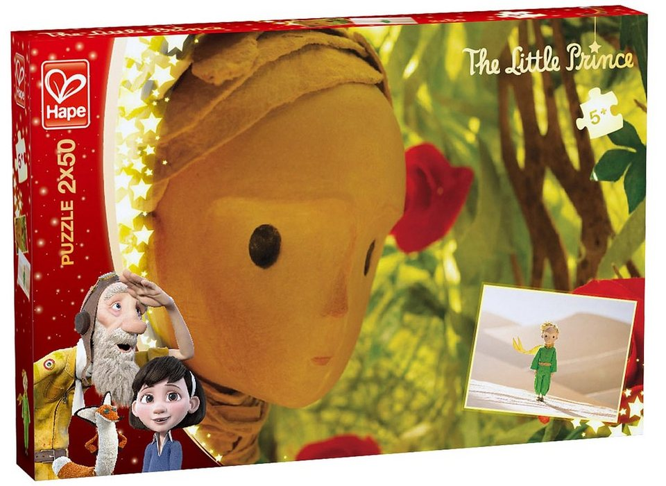 Hape Puzzle, 2x50 Teile, »Der kleine Prinz - Wüste und Rosen«