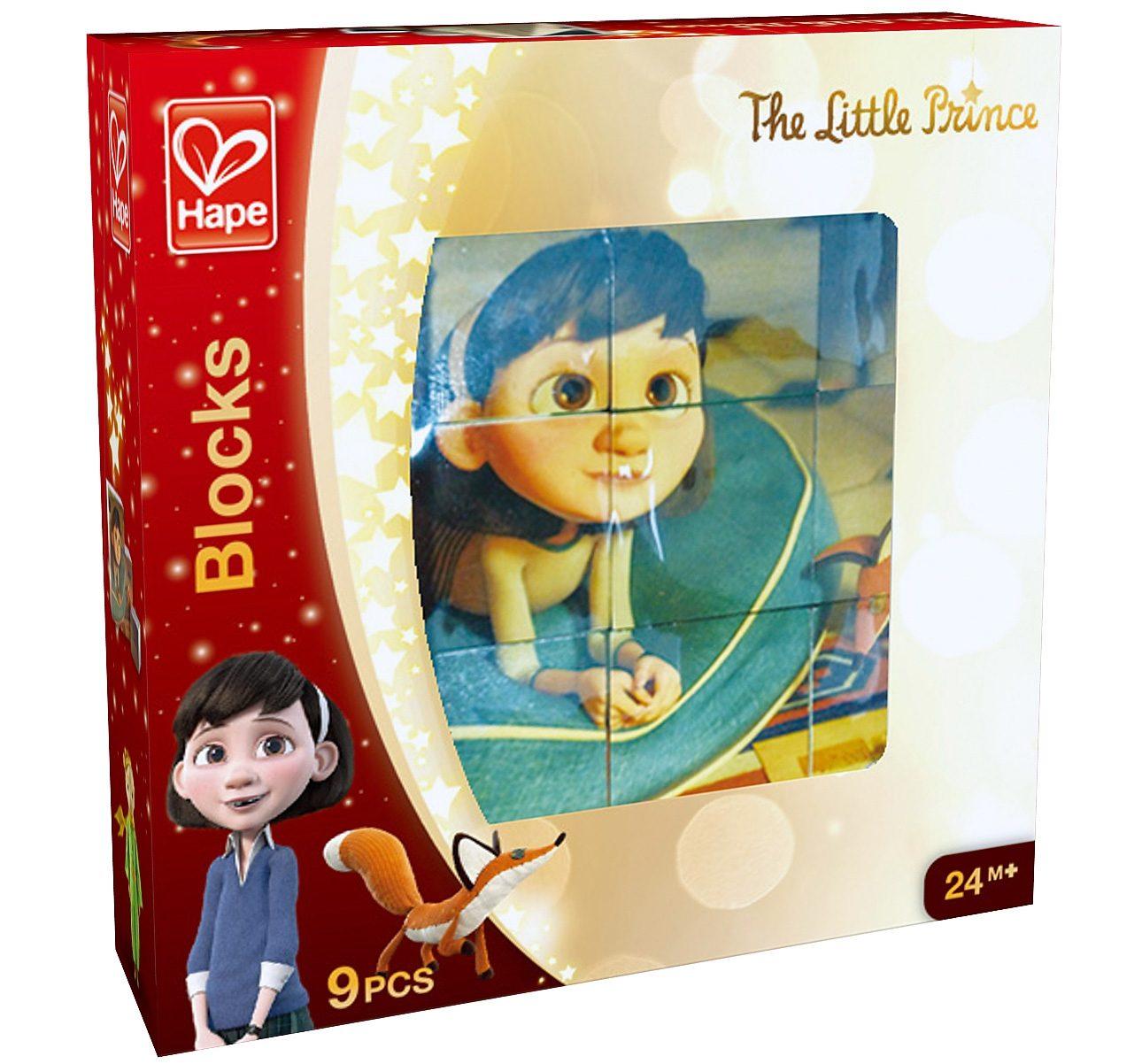 Hape Würfelpuzzle aus Holz, 9-tlg., »Der kleine Prinz«