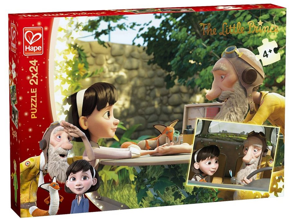 Hape Puzzle, 2x24 Teile, »Der kleine Prinz - Verbindung«
