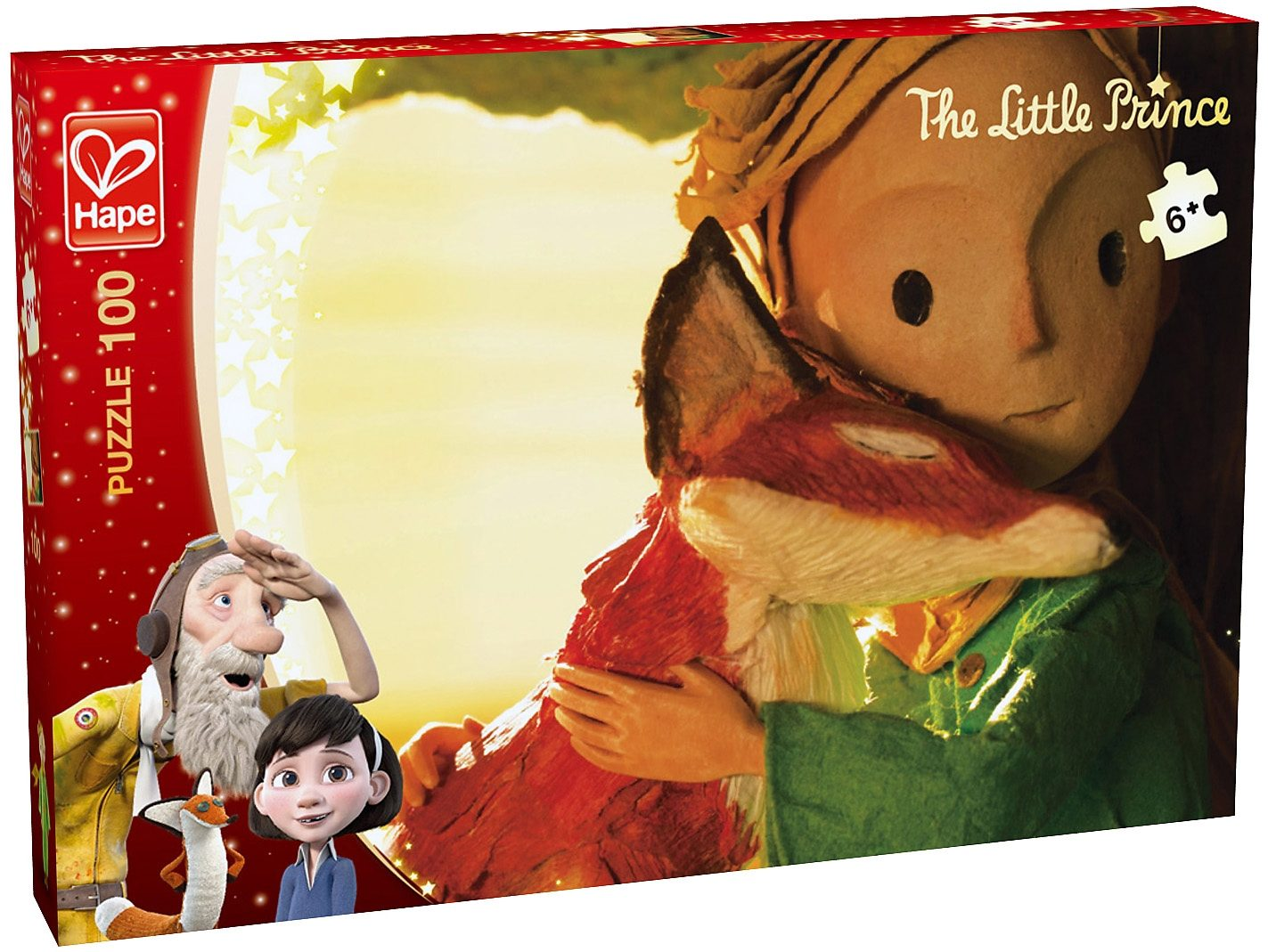 Hape Puzzle, 100 Teile, »Der kleine Prinz - Umarmung«