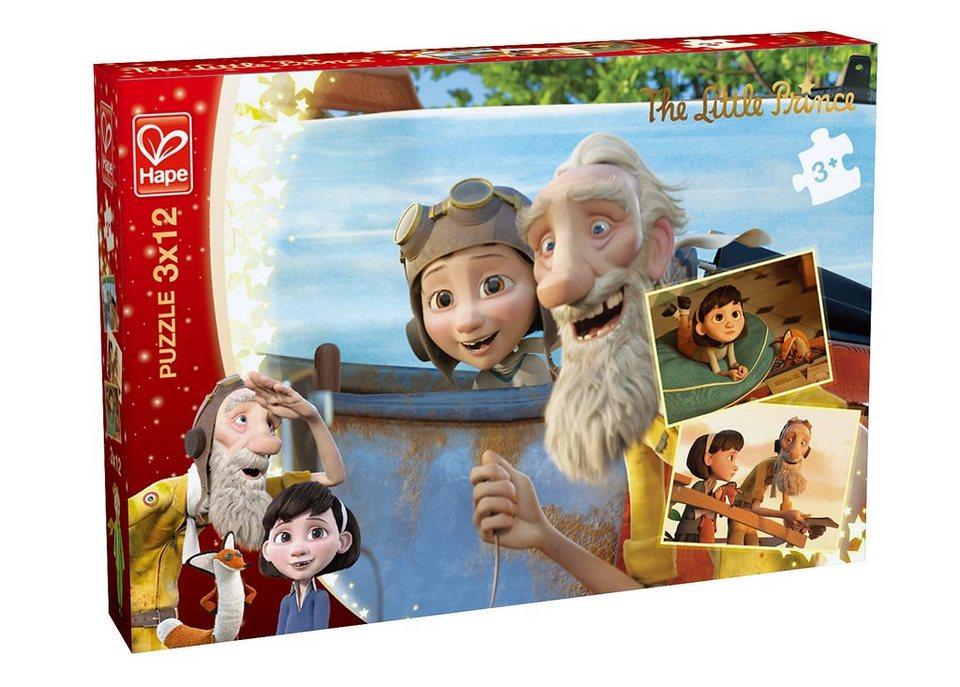 Hape Puzzle, 3x12 Teile, »Der kleine Prinz - Tagtraum«