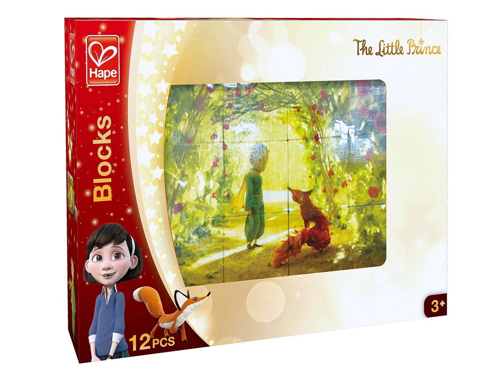 Hape Würfelpuzzle aus Holz, 12-tlg., »Der kleine Prinz«